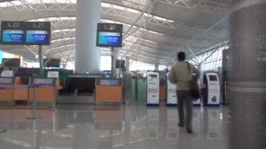 编辑 — — 在中国签入终端机场 — 图库视频影像