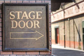Stage door — Stock Photo