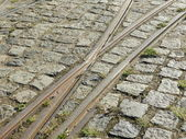 Tracks of cabel car — Stock Photo