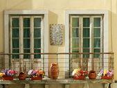 солнечный балкон — Стоковое фото