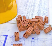 Dom projektu i specyfikacji — Zdjęcie stockowe