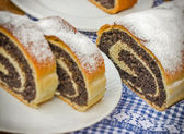 Strudel with poppy seeds — Foto Stock