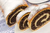 Strudel with poppy seeds — Stock Photo