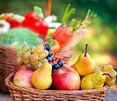 Ekologiska frukter — Stockfoto