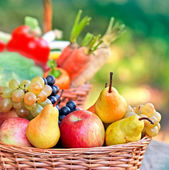 Fresh organic  fruits close-up — Stockfoto