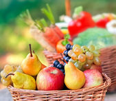 Fresh organic  fruits close-up — ストック写真