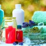 Spa treatment ( aromatherapy) - aromatic, essential oil — Stock Photo #41504607