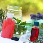 Spa treatment ( aromatherapy) - aromatic, essential oil — Stock Photo #41504889