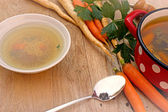 Vegetable soup - vegetarian broth - minestrone — Foto de Stock