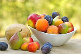 Fresh fruit ( organic fruit - vegan food ) — Stock Photo