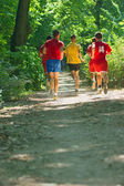 Best way to maintain fitness is running — 图库照片