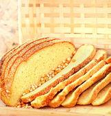 Slices of corn bread — Stock Photo