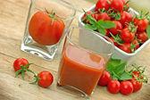 Tomato juice (healthy drink) — Stockfoto