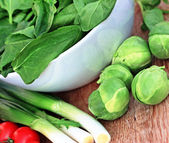 Fresh vegetables -  brussels sprout — Stock Photo