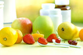 Natural vitamins - fresh organic fruits — Stock Photo