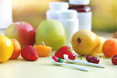 Natural or synthetic vitamins ? — Stock Photo