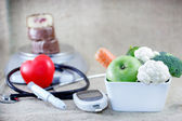 Proper and balanced diet to avoid diabetes — Stock Photo