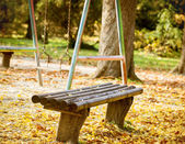 Tezgah parkı ve salıncak — Stok fotoğraf
