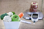 Proper nutrition to health without diabetes — Stock Photo