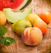 Seasonal fresh organic fruit — Stock Photo