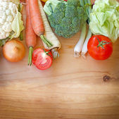 Healthy eating - healthy food (organic vegetables) — Stock Photo