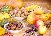 Autumn fruit - autumn harvest — Stock Photo