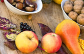 Autumn harvest - Autumn fruitage — Stock Photo