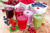 Healthy organic drinks — Stock Photo