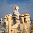 La Pedrera 100 Years: Chimneys - Stock Photo