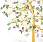 Gold money tree — Stock Photo