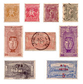 First Olympic stamps collection c.1896 — Stock Photo