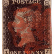 Penny Black First World postage stamp — Stock Photo