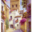 Stock Photo: Vintage Seville Postcard