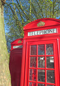 London phone booths — Stock Photo
