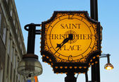 St Christopher's place — Stock Photo