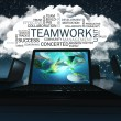 Word Cloud with Teamwork — Stock Photo
