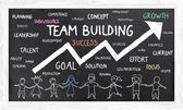 Growth with Team Building — Stock Photo