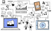 Success with Social Media — Stock Photo