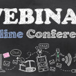 Webinar Online Conference — Stock Photo