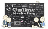 Online Marketing With Business Men — Stock Photo