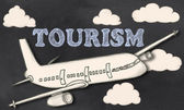 Tourism on Blackboard  — Foto de Stock