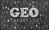 Geo Targeting on Blackboard — Zdjęcie stockowe