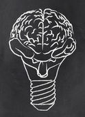 Abstract Brain as a Bulb — Foto de Stock