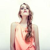 Portrait of sensual woman model — Stock Photo