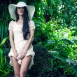 Fashion lady in the tropical jungle — Stock Photo #16278197