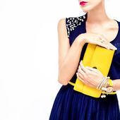 Wieczorem moda styl — Zdjęcie stockowe
