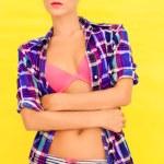 Portrait of a girl in a bright underwear — Stock Photo #23006328