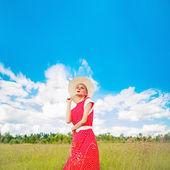 Portret romantyczny dziewczyna w stylu vintage — Zdjęcie stockowe