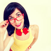 Funny portrait of attractive happy girl — Stock Photo
