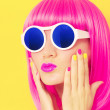 Bright fashion girl — Stock Photo